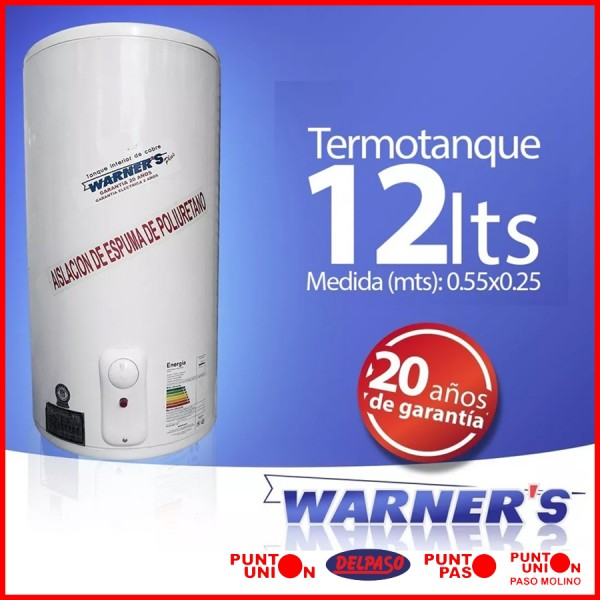 Termotanque 12 lts Warners