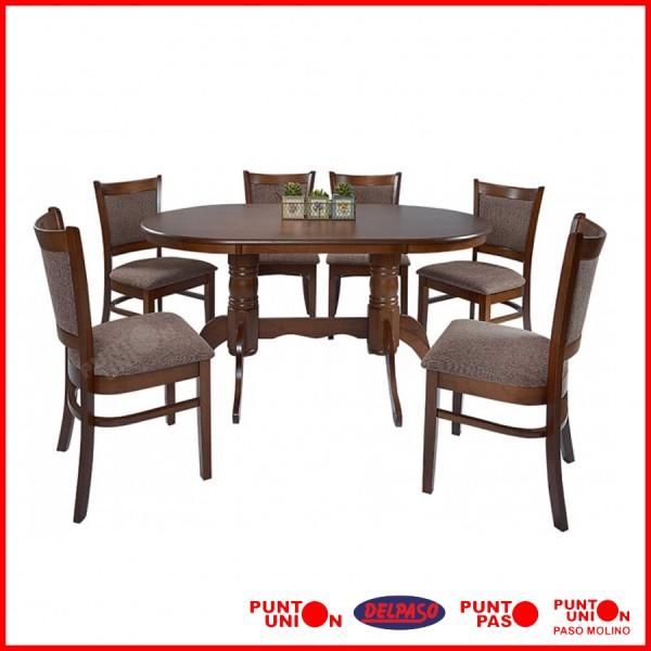Comedor oval 6 sillas