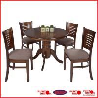 Punto union for Comedor redondo de madera 4 sillas